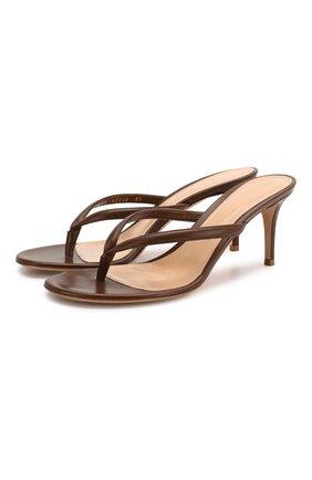 Женские кожаные мюли calypso GIANVITO ROSSI светло-коричневого цвета, арт. G11260.70RIC.VITTEXA | Фото 1