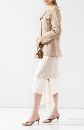 Женские кожаные мюли calypso GIANVITO ROSSI светло-коричневого цвета, арт. G11260.70RIC.VITTEXA | Фото 2