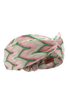Женская повязка на голову MISSONI розового цвета, арт. MDS00097/BR00A4 | Фото 1