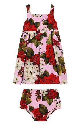Женский комплект из платья и шорт DOLCE & GABBANA розового цвета, арт. L2JD0S/FSGTD | Фото 1