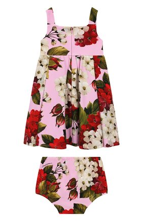 Женский комплект из платья и шорт DOLCE & GABBANA розового цвета, арт. L2JD0S/FSGTD | Фото 2