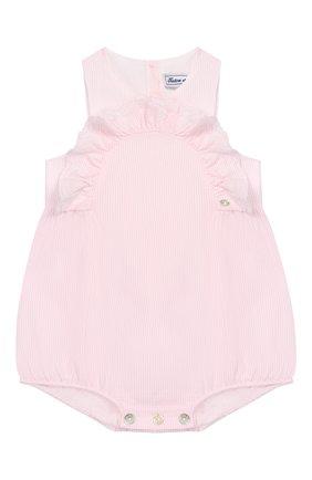 Детское хлопковое боди TARTINE ET CHOCOLAT розового цвета, арт. TQ33011 | Фото 1