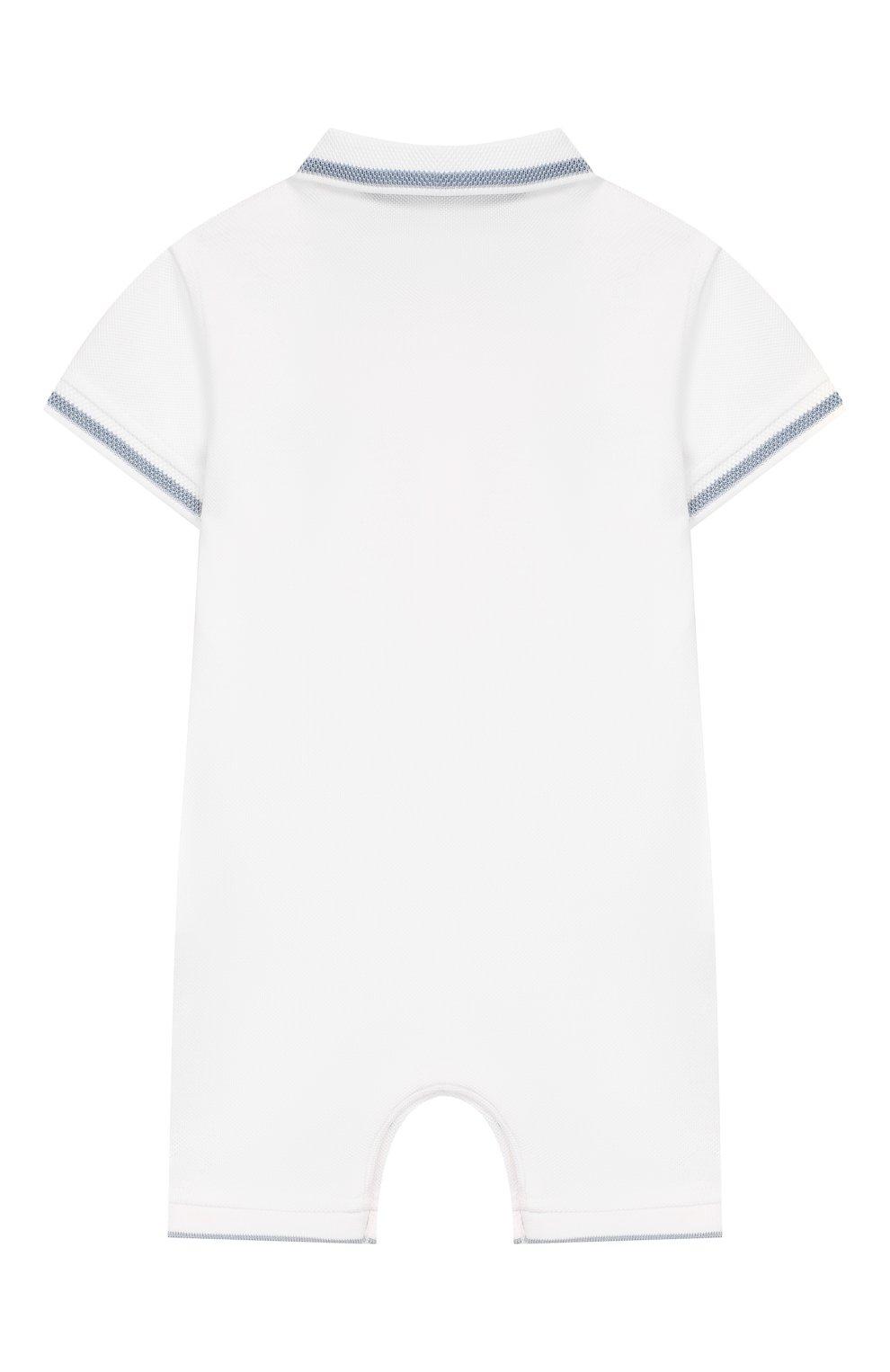 Детское хлопковый комбинезон TARTINE ET CHOCOLAT белого цвета, арт. TQ33081   Фото 2