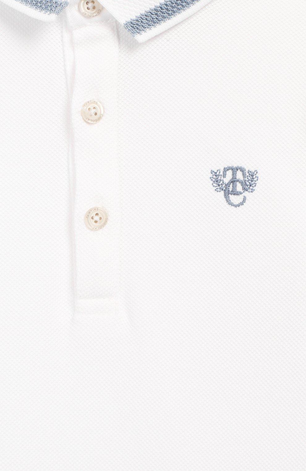 Детское хлопковый комбинезон TARTINE ET CHOCOLAT белого цвета, арт. TQ33081   Фото 3