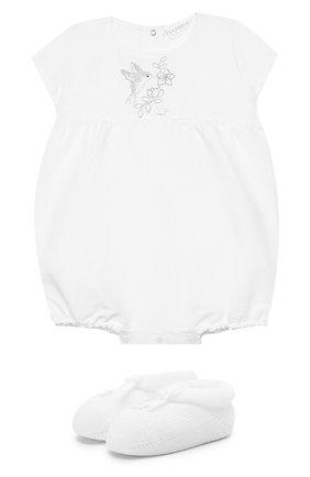 Детское комплект из песочника и пинеток LA PERLA белого цвета, арт. 48699 | Фото 1
