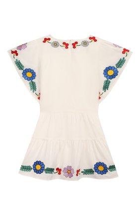 Детское хлопковое платье STELLA MCCARTNEY белого цвета, арт. 588691/S0K62 | Фото 2
