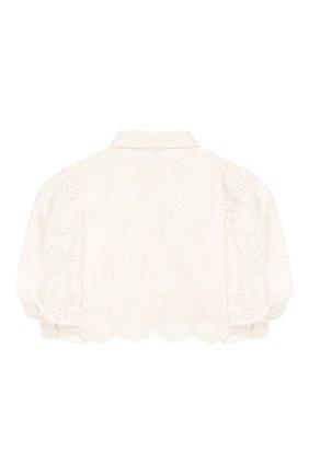 Детское хлопковая блузка JAKIOO белого цвета, арт. 495304 | Фото 2