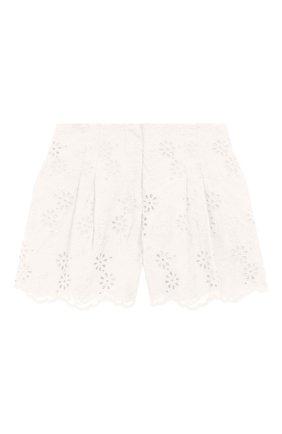 Детские хлопковые шорты JAKIOO белого цвета, арт. 495401 | Фото 1