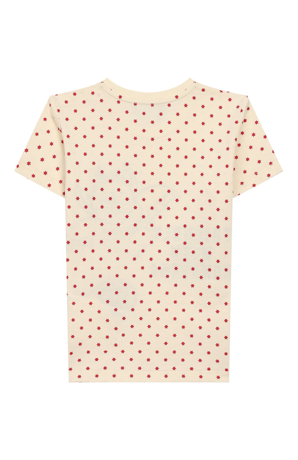 Детский хлопковая футболка GUCCI бежевого цвета, арт. 555675/XJCAH | Фото 2