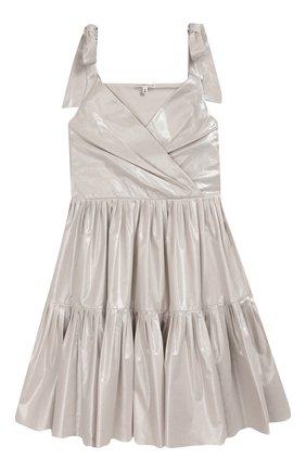 Детское платье ALEXANDER TEREKHOV серебряного цвета, арт. KIDSD157/3513.SH904/S20 | Фото 1 (Рукава: Без рукавов, Короткие; Случай: Повседневный)