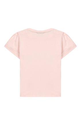 Детский хлопковая футболка FENDI розового цвета, арт. BFI111/ST8/12M-24M | Фото 2