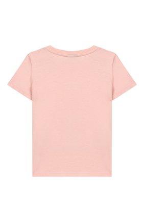 Детский хлопковая футболка FENDI светло-розового цвета, арт. BFI115/7AJ/3M-9M | Фото 2