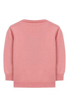 Детский хлопковый пуловер FENDI розового цвета, арт. BUG040/A3TE/12M-24M | Фото 2