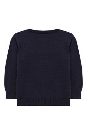 Детский хлопковый пуловер FENDI синего цвета, арт. BUG040/A3TE/12M-24M | Фото 2