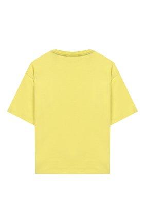 Детская хлопковая футболка FENDI желтого цвета, арт. JMI318/7AJ/3A-6A | Фото 2