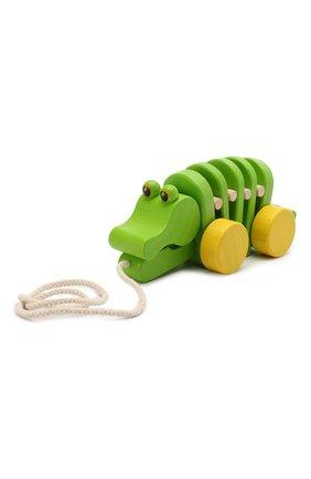 Детского игрушка каталка крокодил PLAN TOYS разноцветного цвета, арт. 5105 | Фото 1