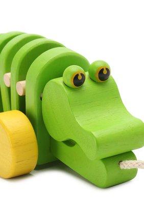 Детского игрушка каталка крокодил PLAN TOYS разноцветного цвета, арт. 5105 | Фото 4