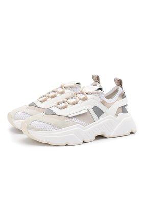Мужские комбинированные кроссовки daymaster DOLCE & GABBANA белого цвета, арт. CS1766/AX034 | Фото 1