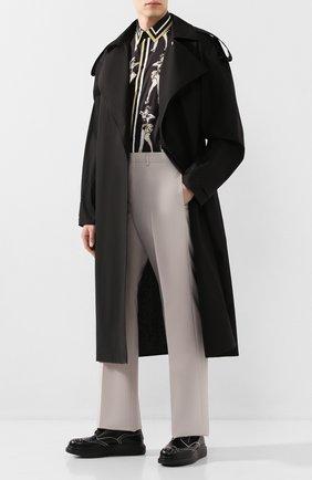 Мужской кожаные дерби ALEXANDER MCQUEEN черно-белого цвета, арт. 586200/WHX5C | Фото 2