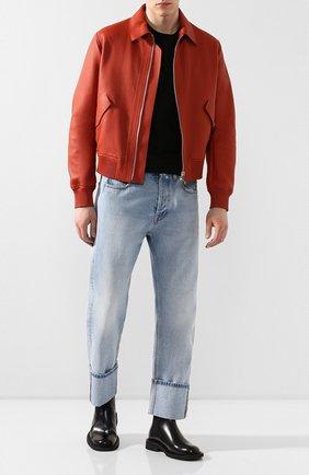 Мужской кожаный бомбер BERLUTI оранжевого цвета, арт. R17LBL72-001   Фото 2