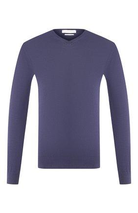 Мужской хлопковый пуловер DANIELE FIESOLI синего цвета, арт. DF 0300 | Фото 1