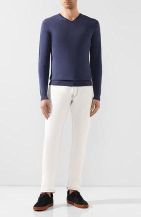 Мужской хлопковый пуловер DANIELE FIESOLI синего цвета, арт. DF 0300 | Фото 2