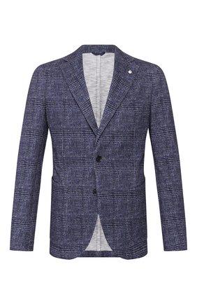 Мужской хлопковый пиджак L.B.M. 1911 синего цвета, арт. 2817/05899 | Фото 1
