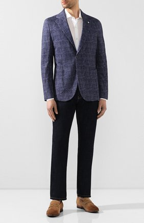 Мужской хлопковый пиджак L.B.M. 1911 синего цвета, арт. 2817/05899 | Фото 2
