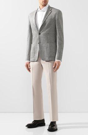 Мужской пиджак из смеси хлопка и льна Z ZEGNA серого цвета, арт. 777741/1D7SG0 | Фото 2