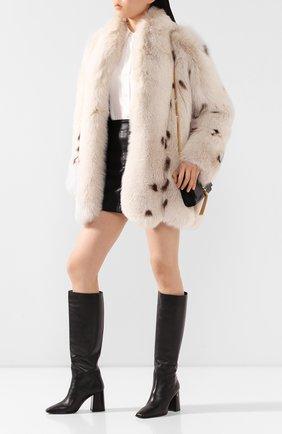Женская шуба из меха лисицы SAINT LAURENT кремвого цвета, арт. 606853/Y7WK2 | Фото 2