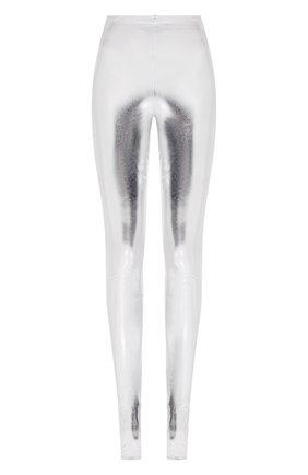 Женские леггинсы BALMAIN серебряного цвета, арт. TF05355/X374 | Фото 1