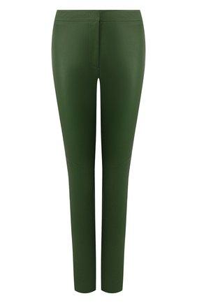 Женские кожаные брюки ESCADA зеленого цвета, арт. 5025272 | Фото 1