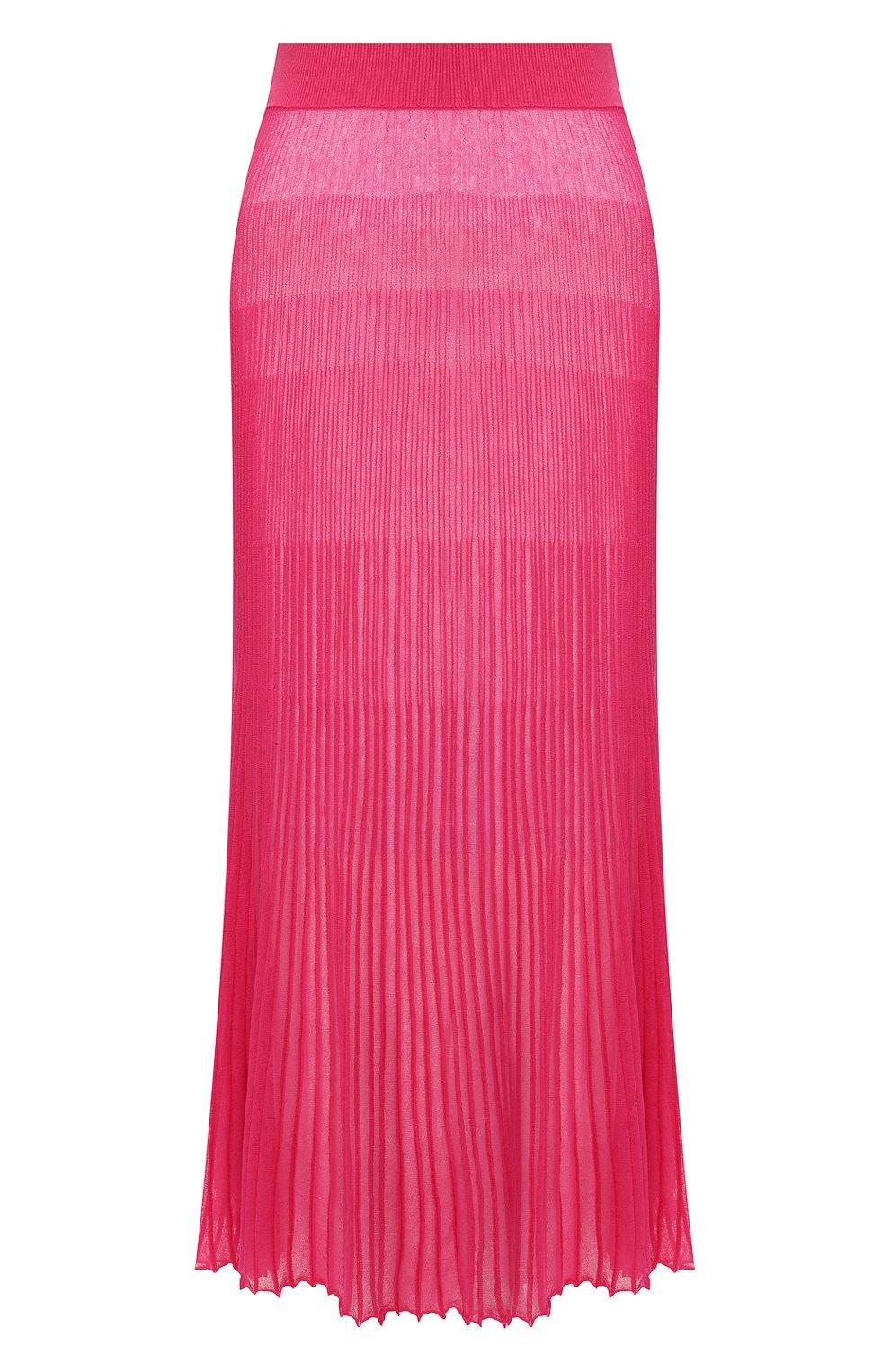 Женская хлопковая юбка JACQUEMUS фуксия цвета, арт. 201KN12/54450 | Фото 1
