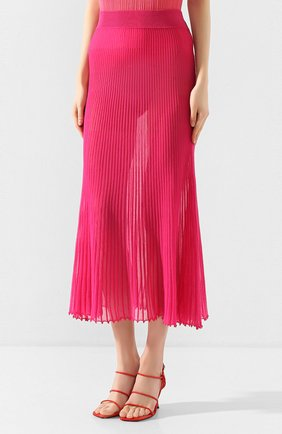 Женская хлопковая юбка JACQUEMUS фуксия цвета, арт. 201KN12/54450 | Фото 3