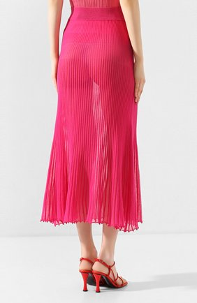 Женская хлопковая юбка JACQUEMUS фуксия цвета, арт. 201KN12/54450 | Фото 4
