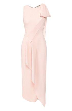 Женское шерстяное платье ROLAND MOURET светло-розового цвета, арт. SS20/S0896/F0275 | Фото 1