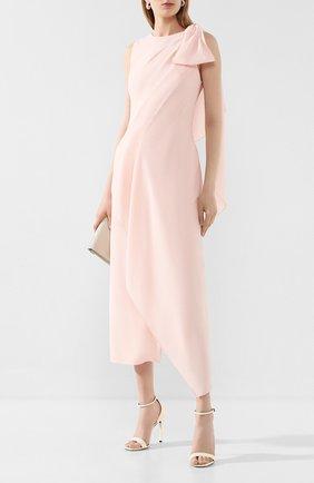 Женское шерстяное платье ROLAND MOURET светло-розового цвета, арт. SS20/S0896/F0275 | Фото 2