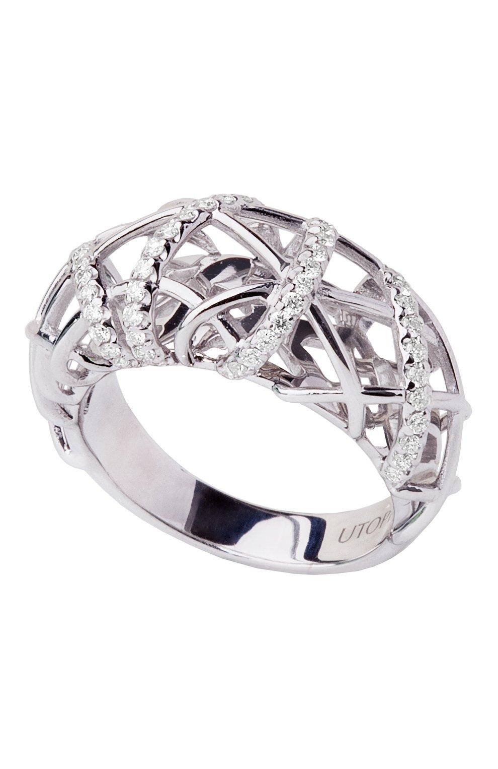 Женские кольцо UTOPIA белого золота цвета, арт. JBA2BB | Фото 1