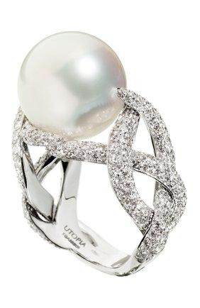 Женские кольцо UTOPIA белого золота цвета, арт. YGA3BB | Фото 1
