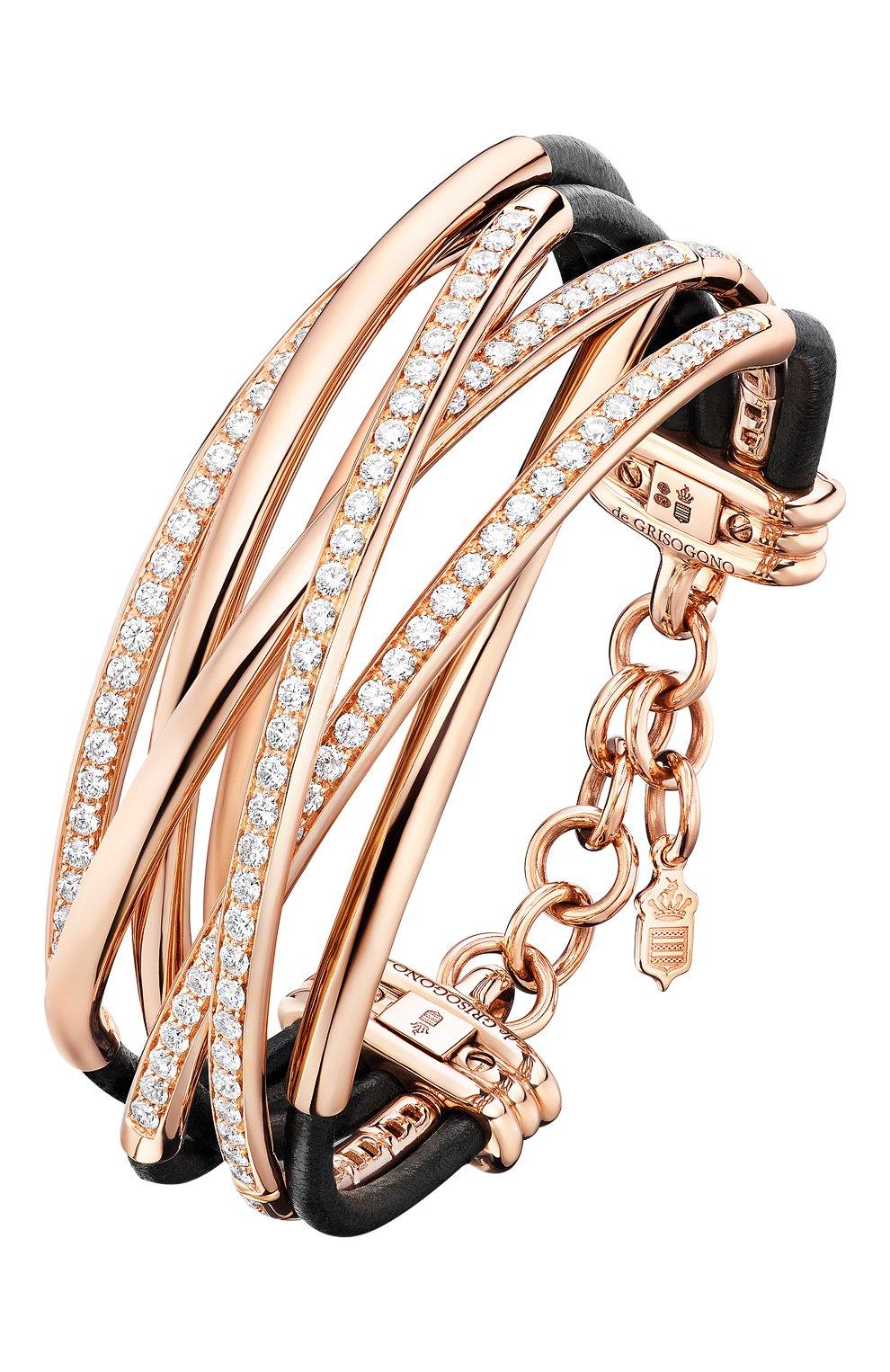 Женские браслет DE GRISOGONO розового золота цвета, арт. 44021/04 | Фото 1