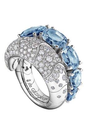 Женские кольцо DE GRISOGONO белого золота цвета, арт. 51151/09 | Фото 1