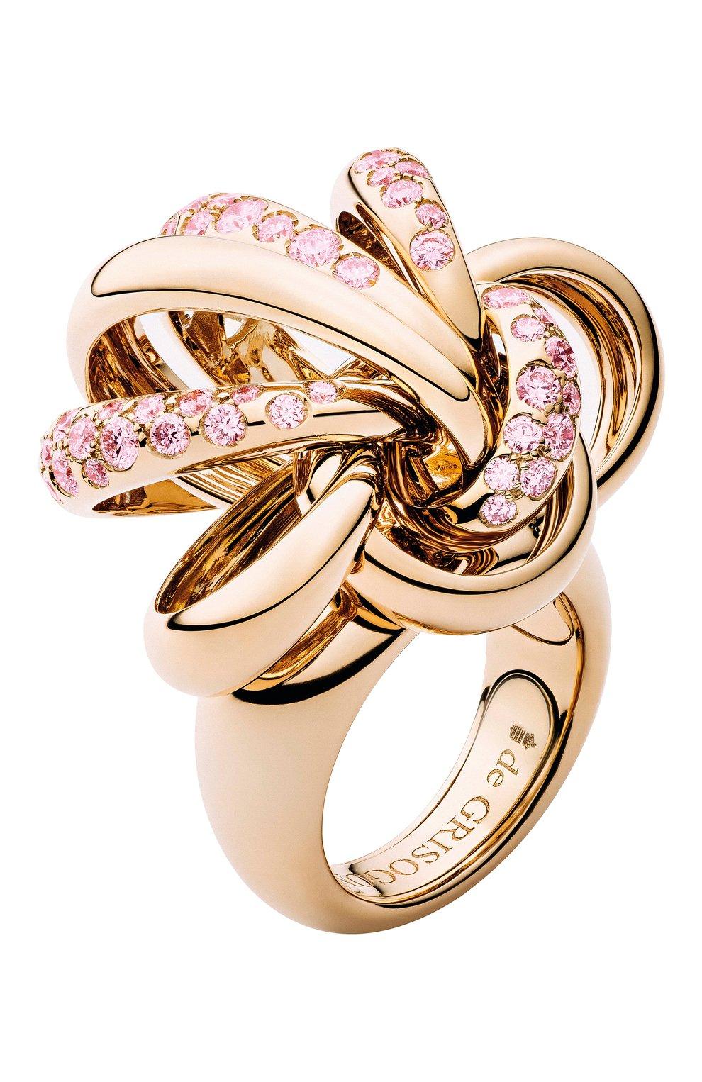 Женские кольцо DE GRISOGONO розового золота цвета, арт. 51231/11 | Фото 1