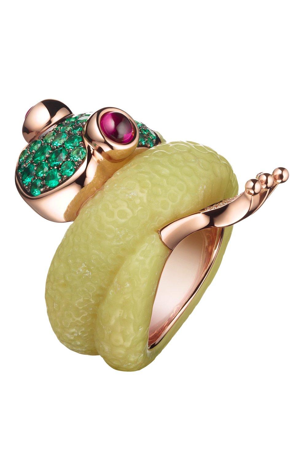Женские кольцо DE GRISOGONO розового золота цвета, арт. 52412/06 | Фото 1