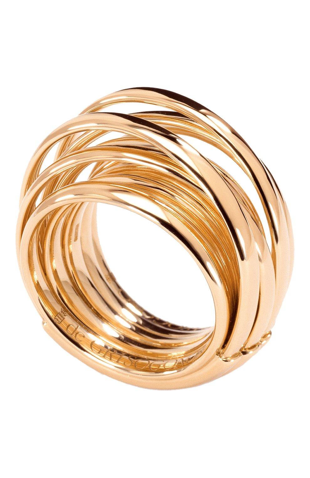 Женские кольцо DE GRISOGONO розового золота цвета, арт. 54000/04 | Фото 1