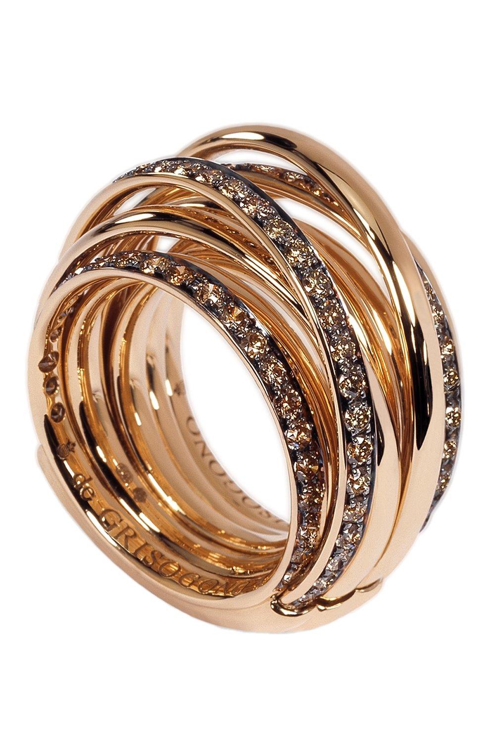 Женские кольцо DE GRISOGONO розового золота цвета, арт. 54001/16 | Фото 1