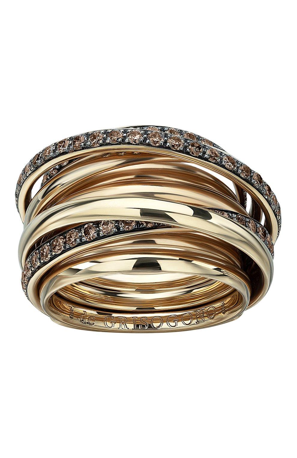 Женские кольцо DE GRISOGONO розового золота цвета, арт. 54001/16 | Фото 2