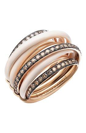 Женские кольцо DE GRISOGONO розового золота цвета, арт. 54001/50 | Фото 1