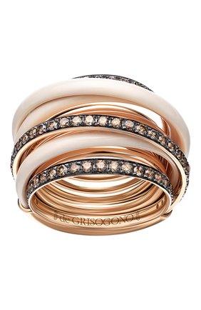 Женские кольцо DE GRISOGONO розового золота цвета, арт. 54001/50 | Фото 2