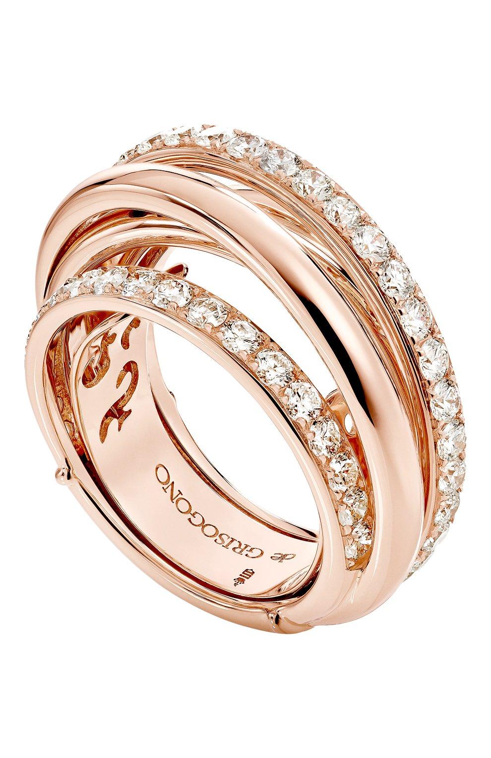 Женские кольцо DE GRISOGONO розового золота цвета, арт. 54031/04 | Фото 1