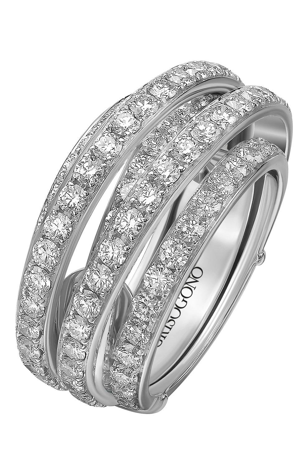 Женские кольцо DE GRISOGONO белого золота цвета, арт. 54032/01 | Фото 1